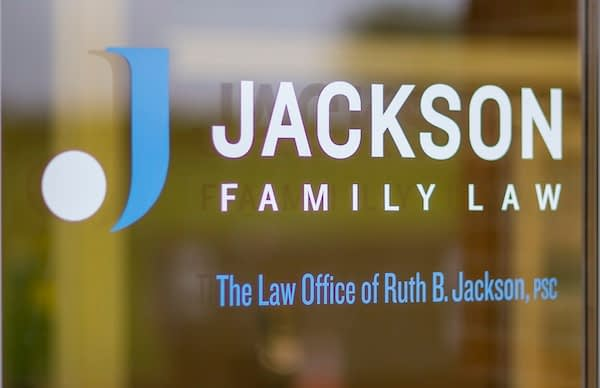 Jackson Family Law Logo on Entrance Door